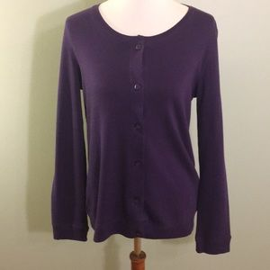 NWT Purple Size S Karen Scott Knit Cardigan